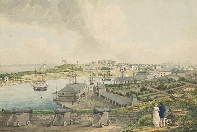 800px-View_of_Sydney_Cove_from_Dawes_Point_by_Joseph_Lycett_page74_a5491074